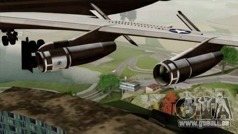 Boeing VC-137 pour GTA San Andreas vue de droite