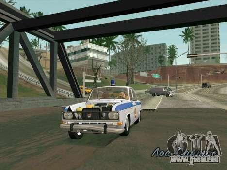 Moskvich 2140 Police pour GTA San Andreas vue de dessous