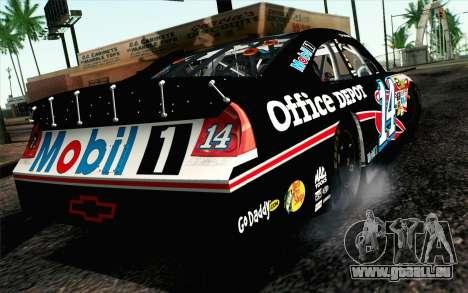 NASCAR Chevrolet Impala 2012 Plate Track für GTA San Andreas linke Ansicht