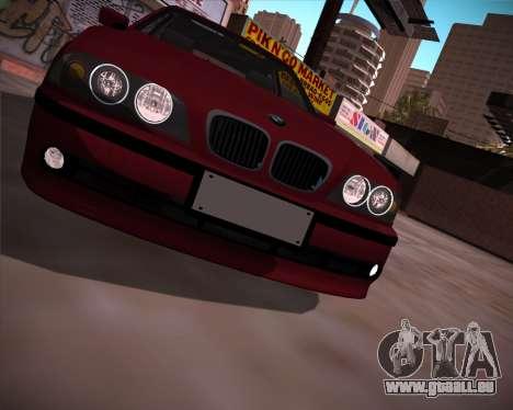 BMW 5-series E39 Vossen pour GTA San Andreas vue de droite
