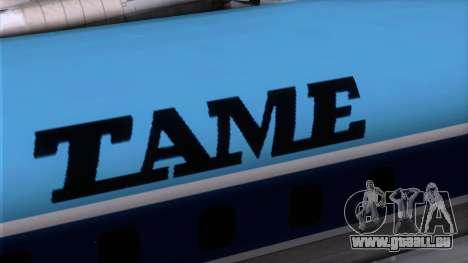 L-188 Electra TAME für GTA San Andreas Rückansicht