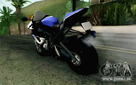 BMW S1000RR HP4 v2 Blue pour GTA San Andreas laissé vue