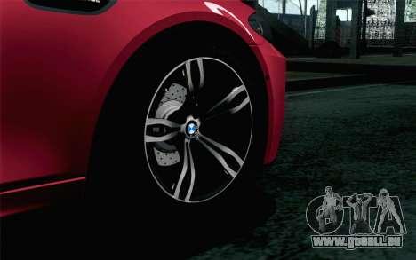 BMW M5 F10 2012 Stock pour GTA San Andreas sur la vue arrière gauche