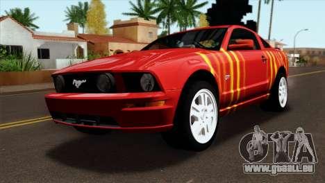 Ford Mustang GT PJ pour GTA San Andreas