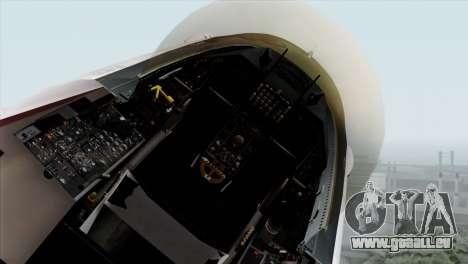 YF-16 Fighting Falcon pour GTA San Andreas vue arrière