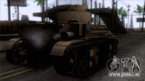 M2 Light Tank pour GTA San Andreas laissé vue