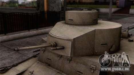 M2 Light Tank pour GTA San Andreas sur la vue arrière gauche