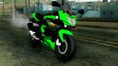 Kawasaki Ninja 250RR Mono Green pour GTA San Andreas