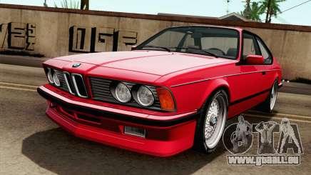 BMW M635CSI E24 1986 V1.0 pour GTA San Andreas