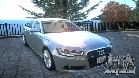 Audi A6 2012 v1.0 pour GTA 4 est une vue de l'intérieur