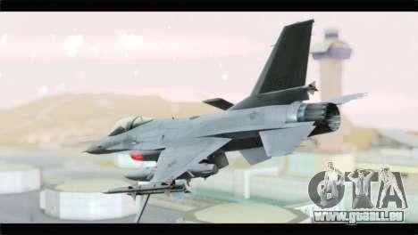 F-16A Republic of Korea Air Force pour GTA San Andreas laissé vue
