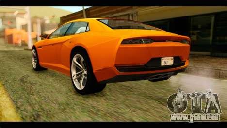 Lamborghini Estoque pour GTA San Andreas laissé vue