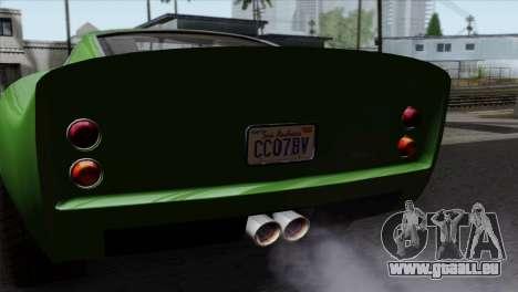 GTA 5 Grotti Stinger GT v2 SA Mobile pour GTA San Andreas vue de droite