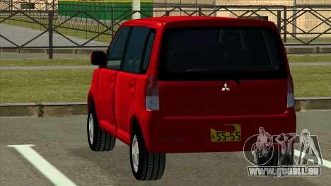 Mitsubishi eK Wagon pour GTA San Andreas sur la vue arrière gauche