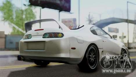 Toyota Supra 1998 FF7 pour GTA San Andreas laissé vue