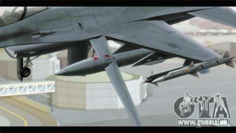 F-16A Republic of Korea Air Force pour GTA San Andreas vue de droite