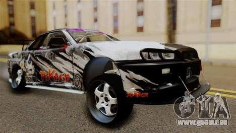 Nissan Skyline GTR34 Tokage für GTA San Andreas