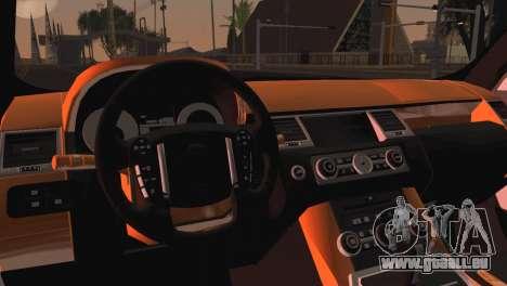 Range Rover Sport 2012 Samurai Design pour GTA San Andreas sur la vue arrière gauche