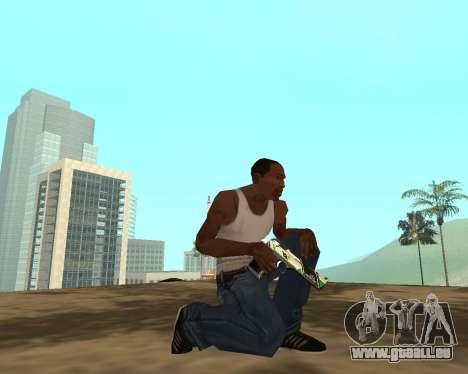 Green Pack Asiimov CS:GO pour GTA San Andreas huitième écran