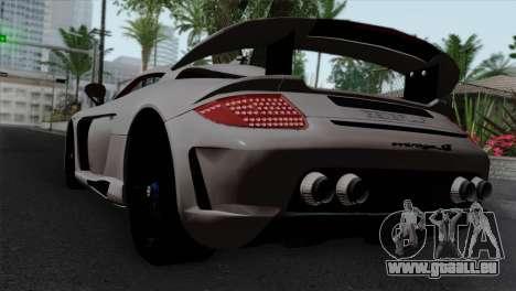Gemballa Mirage GT v1 Windows Down pour GTA San Andreas laissé vue