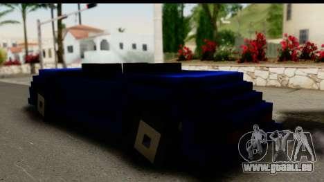 Minecraft Car pour GTA San Andreas laissé vue