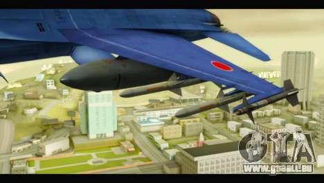 Mitsubishi F-2A JASDF Blue v2.0 für GTA San Andreas rechten Ansicht