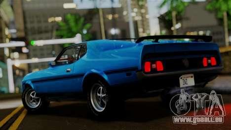 Ford Mustang Mach 1 429 Cobra Jet, 1971 FIV АПП pour GTA San Andreas laissé vue