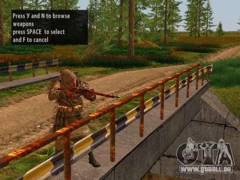Soviétique Sniper pour GTA San Andreas deuxième écran