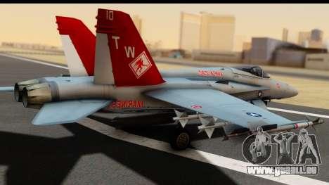 McDonnell Douglas FA-18C Hornet VMFA-232 USMC pour GTA San Andreas laissé vue