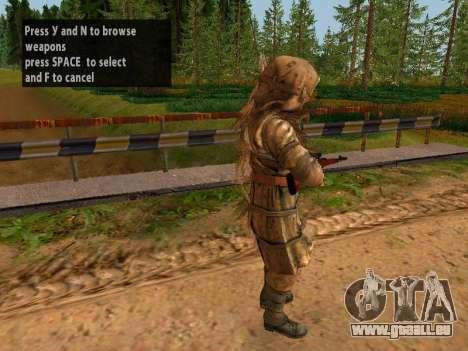 Soviétique Sniper pour GTA San Andreas troisième écran
