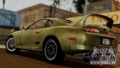 Toyota Supra Turbo (JZA80) 1998 FF7 Edition pour GTA San Andreas laissé vue