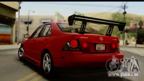 Lexus IS300 Tunable für GTA San Andreas Motor