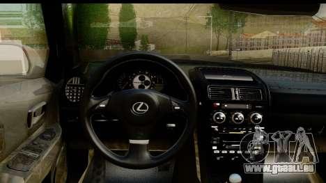 Lexus IS300 Tunable pour GTA San Andreas vue intérieure