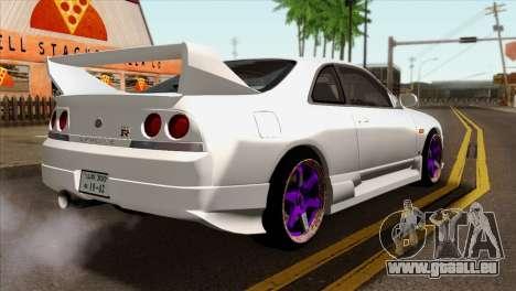 Nissan Skyline R33 Drift JDM pour GTA San Andreas laissé vue