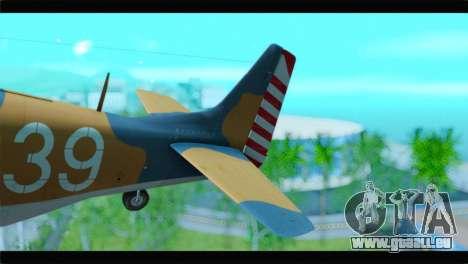 F-51D Israeli Air Force für GTA San Andreas zurück linke Ansicht