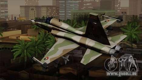 Northrop F-5 Estovakian Air Force pour GTA San Andreas laissé vue