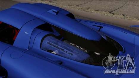 Gemballa Mirage GT v1 Windows Up pour GTA San Andreas sur la vue arrière gauche
