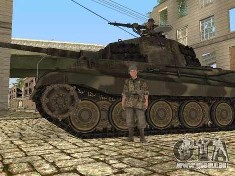 Panzerkampfwagen Tiger II pour GTA San Andreas vue intérieure