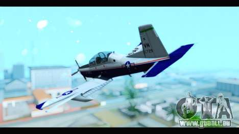 Beechcraft T-6 Texan II US Air Force 2 für GTA San Andreas linke Ansicht