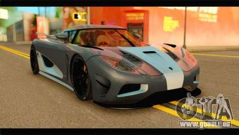 Koenigsegg Agera R 2011 Stock Version pour GTA San Andreas