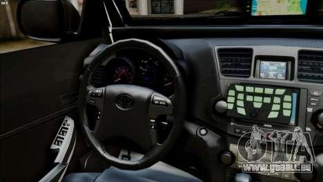 Toyota Hilux SW4 2014 ROTA pour GTA San Andreas sur la vue arrière gauche