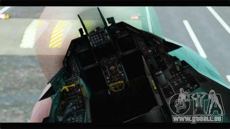 F-16A Republic of Korea Air Force pour GTA San Andreas vue arrière