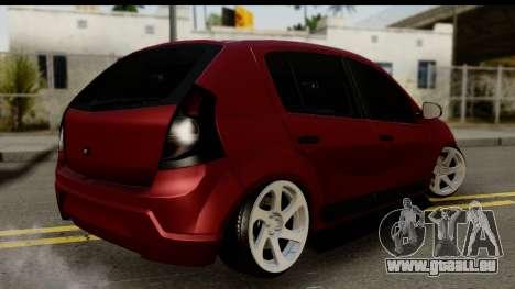 Dacia Sandero Low Tuning für GTA San Andreas linke Ansicht