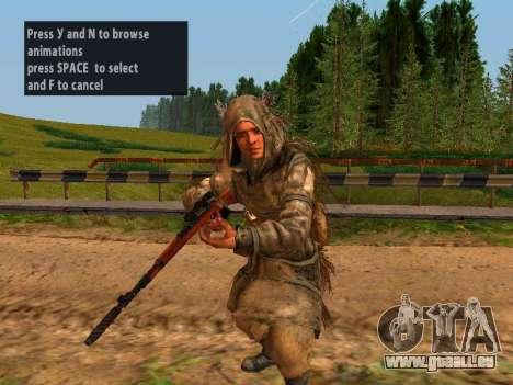 Soviétique Sniper pour GTA San Andreas quatrième écran
