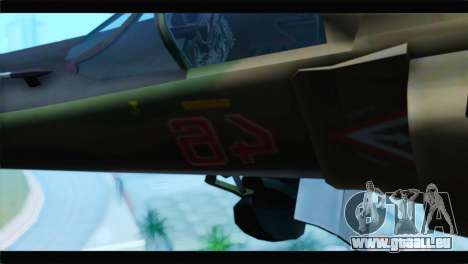 MIG-23ML Yuktobanian Air Force für GTA San Andreas Rückansicht