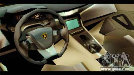 Lamborghini Estoque pour GTA San Andreas vue de droite