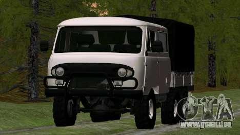 UAZ 39094 6X6 Dream hunter für GTA San Andreas Rückansicht