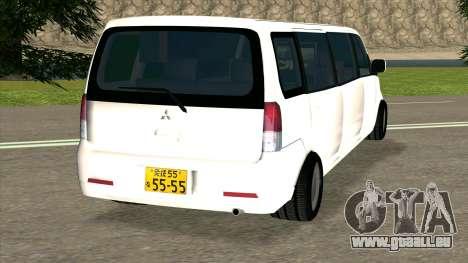 Mitsubishi EK Wagon Limo pour GTA San Andreas sur la vue arrière gauche
