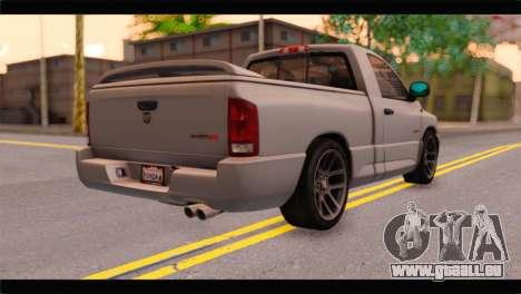 Dodge Ram SRT10 2006 Stock pour GTA San Andreas laissé vue