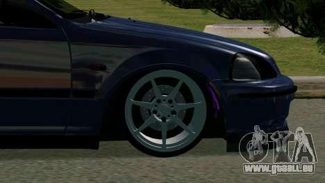 Honda Civic EK9 pour GTA San Andreas vue arrière